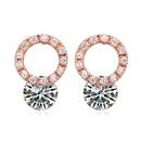 AAAgrade micro inlaid zircon earrings  White  18091