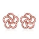 AAAgrade micro inlaid zircon earrings  White  18129