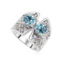 Austria Imitated crystal ring  Sea Blue  17962