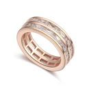 AAAgrade handmade inlaid zircon ring  White  17463