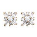 AAAgrade handmade inlaid zircon earrings  Champagne  17384