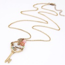 Occident fashion vintage bird key long necklace sweater chain 219518