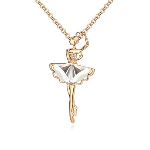 Alloy how she move fine necklace  White + Champagne alloy  18675