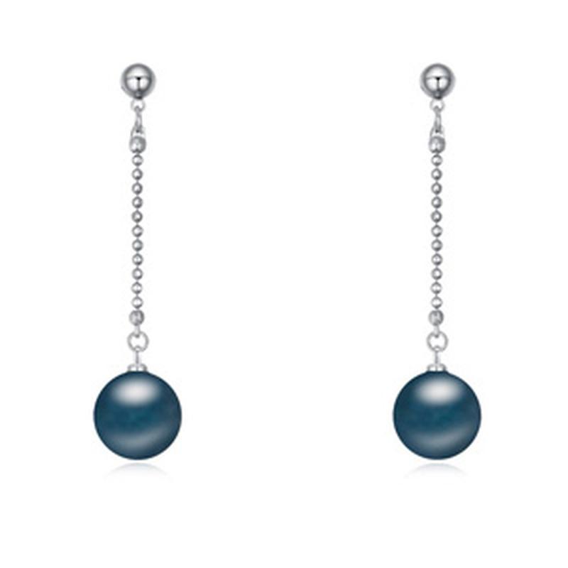 Austria imitated crystal earrings  Dark blue  18636