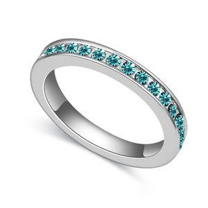 Austria Imitated crystal ring  Sea Blue  18567