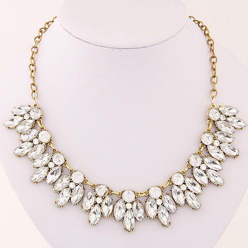Occident fashion brand dazzling gem collar necklace 219665