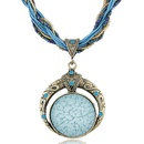 Occident fashion handmade Bohemian style classic read a dream easy match beads necklace  light blue  219551