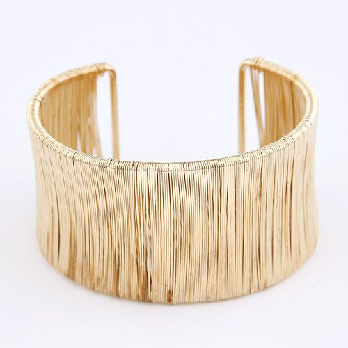 Occident fashion  metal weave boast extra wide cuff bangle  alloy  214179