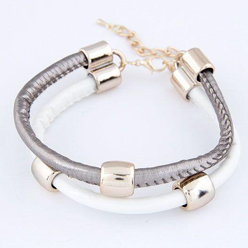 Occident fashion  easy match concise metal circle double layer unique bracelet ( alloy ) 214060