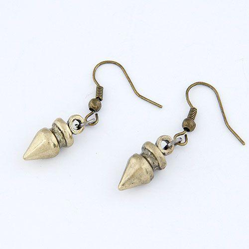 EXQUISITE Occident fashion fashion metal bullet unique earrings 214009