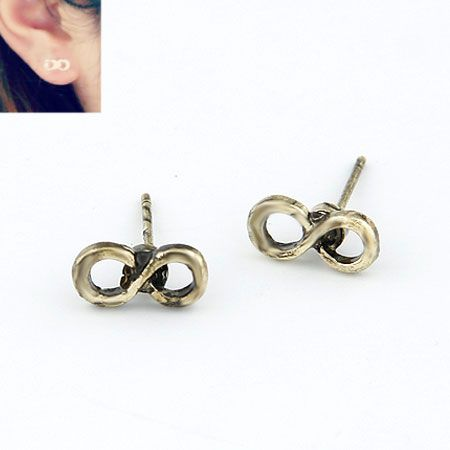 ( Antique bronze ) classic lucky letter unique 8 letters ear studs 213826