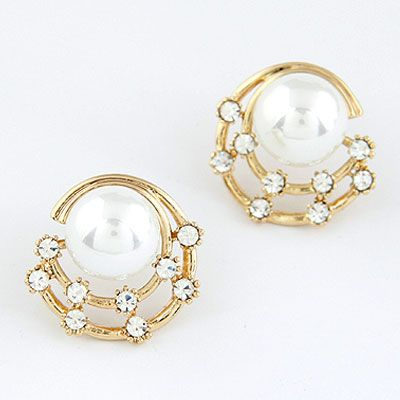 EXQUISITE Sweet grace gem Beads ear studs 213708