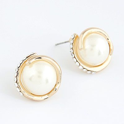 EXQUISITE Sweet grace gem Beads ear studs 213711
