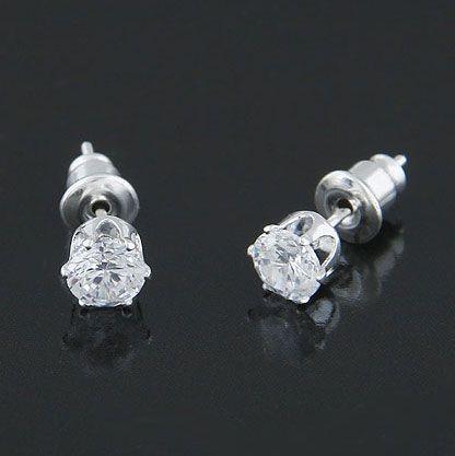 ( Cubic Zirconia ) concise design Cubic Zirconia ear studs 213207