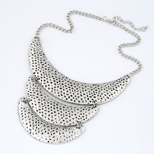 Occident fashion concise silve color crescent necklace 213149