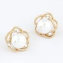 EXQUISITE Sweet elegant flower Beads ear studs 213716