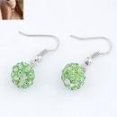 Sweet pave setting ball earrings  peridot  213472
