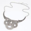 Classic weave cord classic pattern short necklace 213095