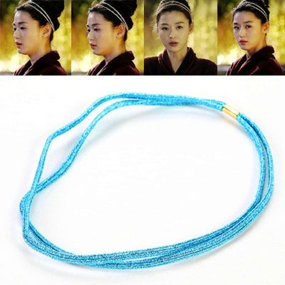 Korean fashion the simple design bright color elastic hairhoop  blue  214357