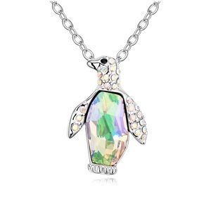 Austrian imitated crystal necklace  Penguin  Glow Green  13186