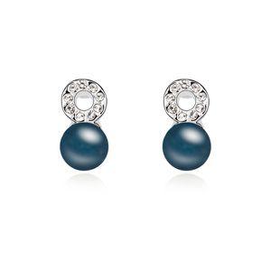 Austria beads earrings - Belong to you ( Navy blue ) 13086