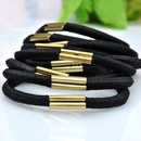 100 unit price  concise black color and alloy metal accessory rubber band 214376