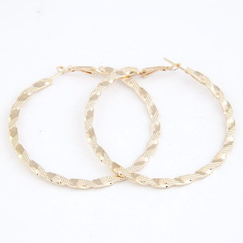 Occident fashion alloy color hoops earrings 214513