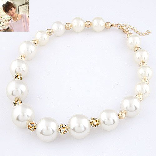 Delicate shining gem lady wear Beads necklace 214372