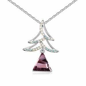 Austrian imitated crystal necklace - Christmas tree ( Pink Imitated crystal Classic ) 13822