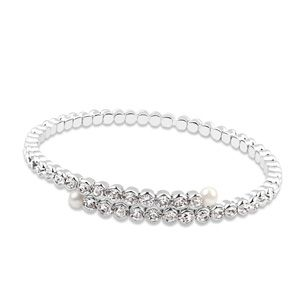 Austrian imitated crystal bracelet  Single row imitated crystal  White  13809