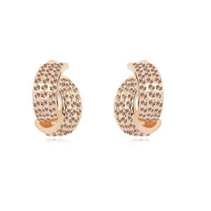 Austrian imitated crystal earrings - Film Bazaar ( Light Peach + Champagne Alloy ) 13744