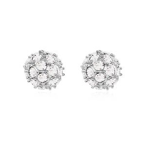 Austrian imitated crystal earrings  Somebody Up There Likes  White  13728