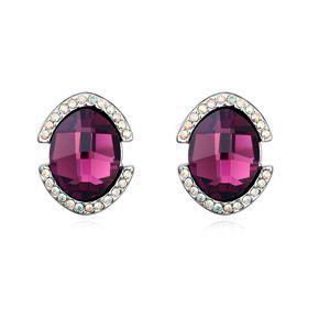 Austrian imitated crystal earrings - Barcelona ( Purple ) 13506