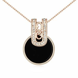 Austrian imitated crystal necklace  Modern era of  Black  13477