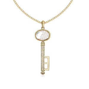 Austrian imitated crystal sweater chain - Magic Keys ( White + Champagne Alloy ) 13448