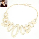 Occident fashion alloy color boast irregular hoops concise necklace 214640