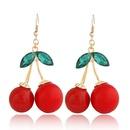 Sweet pretty cherry elegant earrings 214596