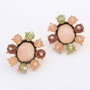 Occident new candy color unique ear studs 7105098