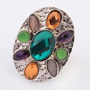 Occident bohemian style fashion gemstones finger ring  green  7104897