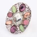 Occident bohemian style fashion gemstones finger ring  white  7104896