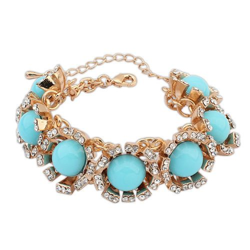Occident boast contrast color bracelet  light blue  7106400