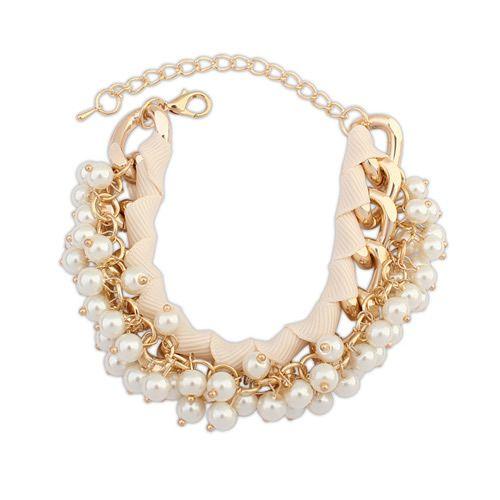 Fashion beads all match elegant bracelet ( beige ) 7106121
