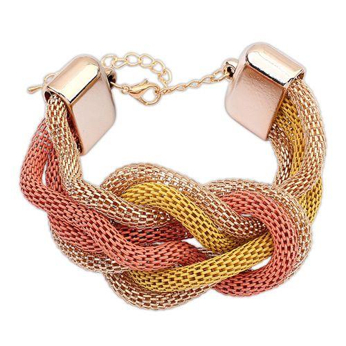 Boast vintage national style fashion bracelet ( yellow + orange + alloy ) 7106119