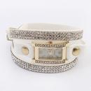 Concise hot sale shining rhinestones watch bracelet  white  7106411