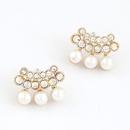 EXQUISITE  Sweet OL gem Beads cute  unique ear studs 214917