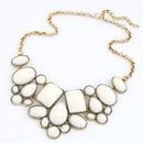 Occident fashion boast luxury gorgeous geometry short necklace  light blue  214866
