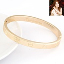 EXQUISITE LOVE series forever ring bangle  alloy  212439
