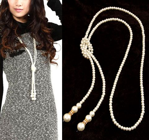 ( alloyen ) Delicate imitation beads concise extra wide necklace 215313
