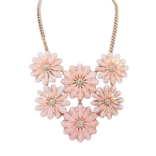 Sweet summer fresh flowers necklace ( pink ) 7106781