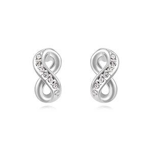 Austrian imitated crystal earrings  Love is infinite White 14889